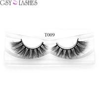100 handmade siberian mink false eyelashes thick long natural look fake eyelashes with boxt09