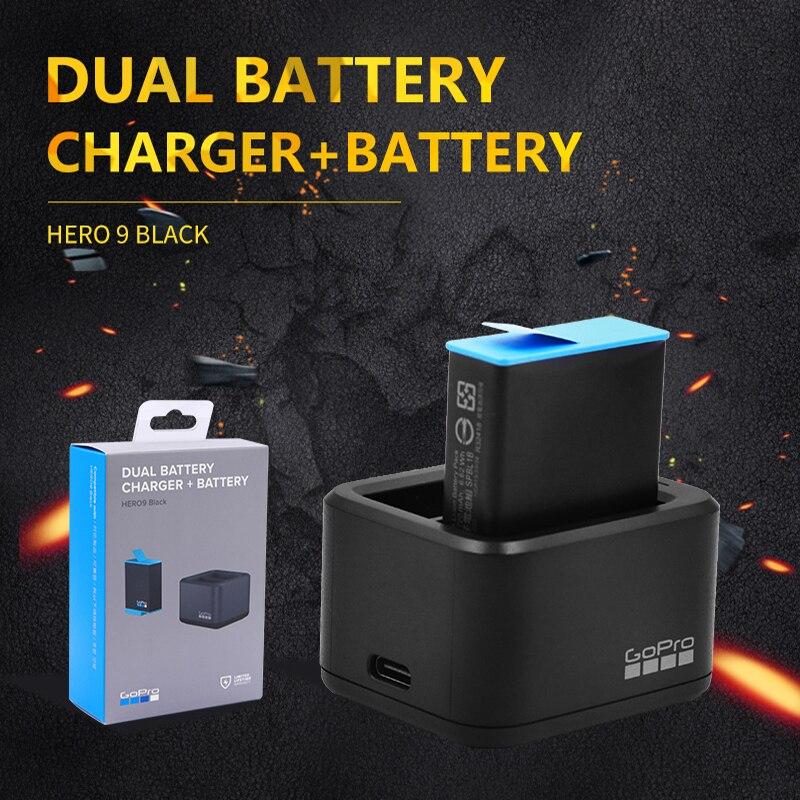 GoPro HERO9 negro Cargador de Batería Dual + batería de repuesto ADDBD-001...