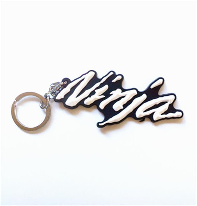 Porte-clés en caoutchouc moto ninja   Porte-clés cool 3D souple pour kawasaki ninja 300 250 650 kawasaki ninja 250r kawasaki ninja