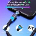 एलईडी लाइट के साथ USLION मैग्नेटिक USB केबल, फास्ट फोन चार्जिंग के लिए USB टाइप- C केबल, iPhone के लिए मैग्नेटिक चार्जर, माइक्रो USB
