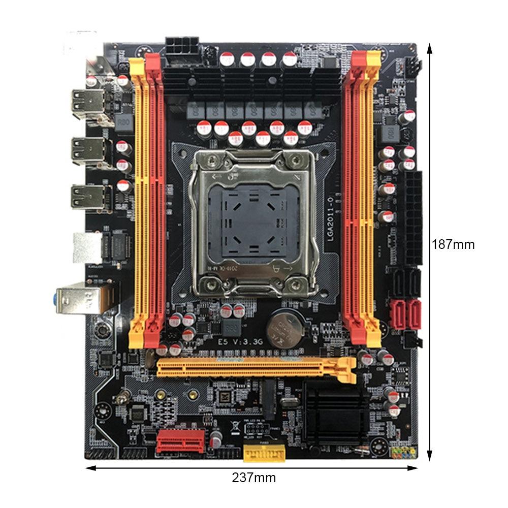 X79-3.3G لوحة أم للكمبيوتر M-ATX أربعة قناة DDR3 128G الذاكرة USB 3.0 SATA 3.0 اللوحة الرئيسية ل LGA 2011 E52670/2689