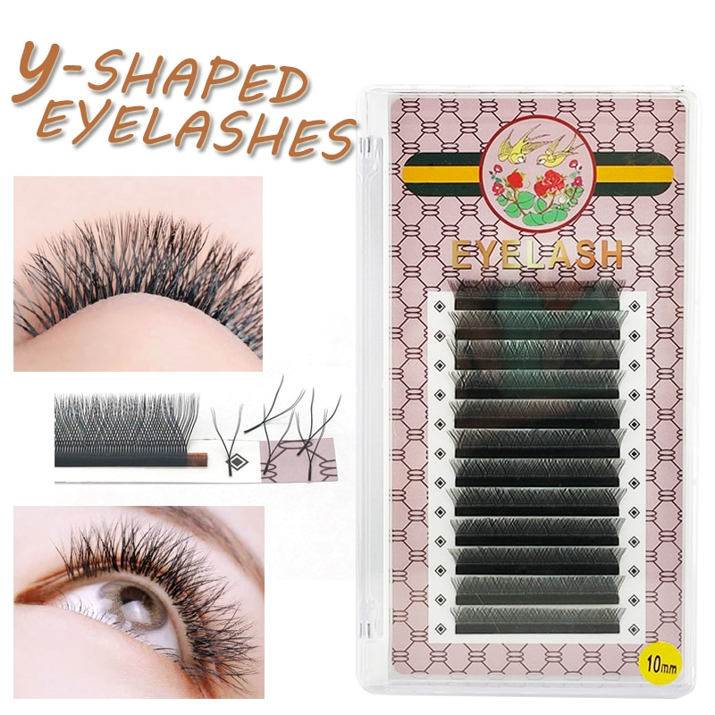 Circular magnetic 12 rows of 0.07YY black eyelashes to extend two sharp eyelashes C-curve weaving hi