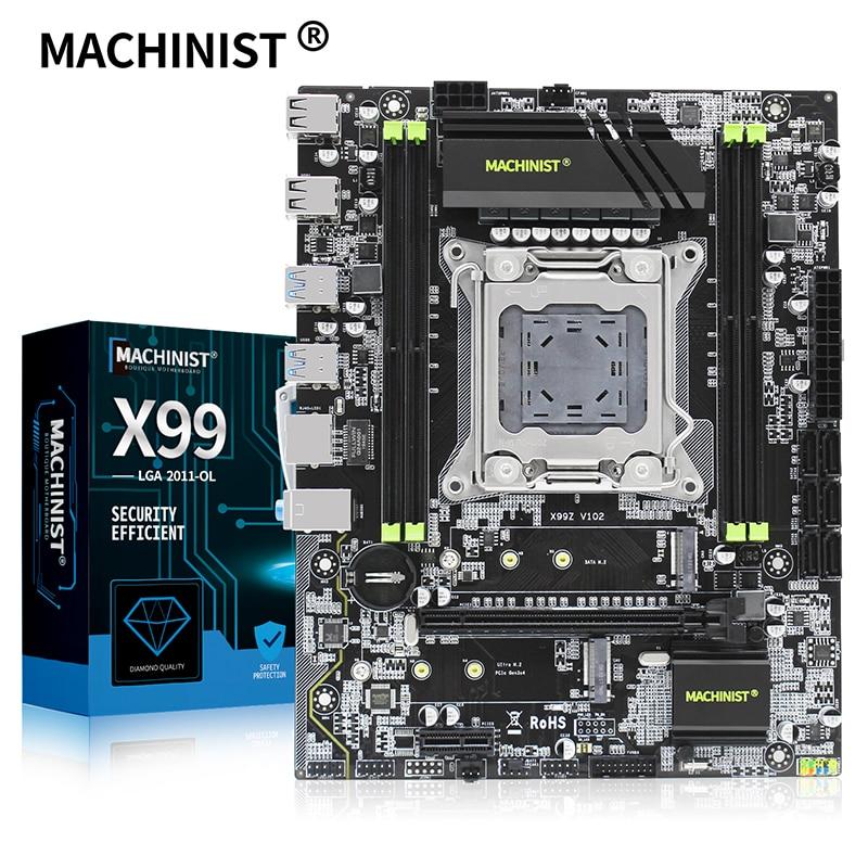 Machinista x99 lga 2011-3 placa-mãe de mesa com sata m.2 pci-e m.2 slot suporte xeon e5 v3 processador ddr4 ecc ram mainboard