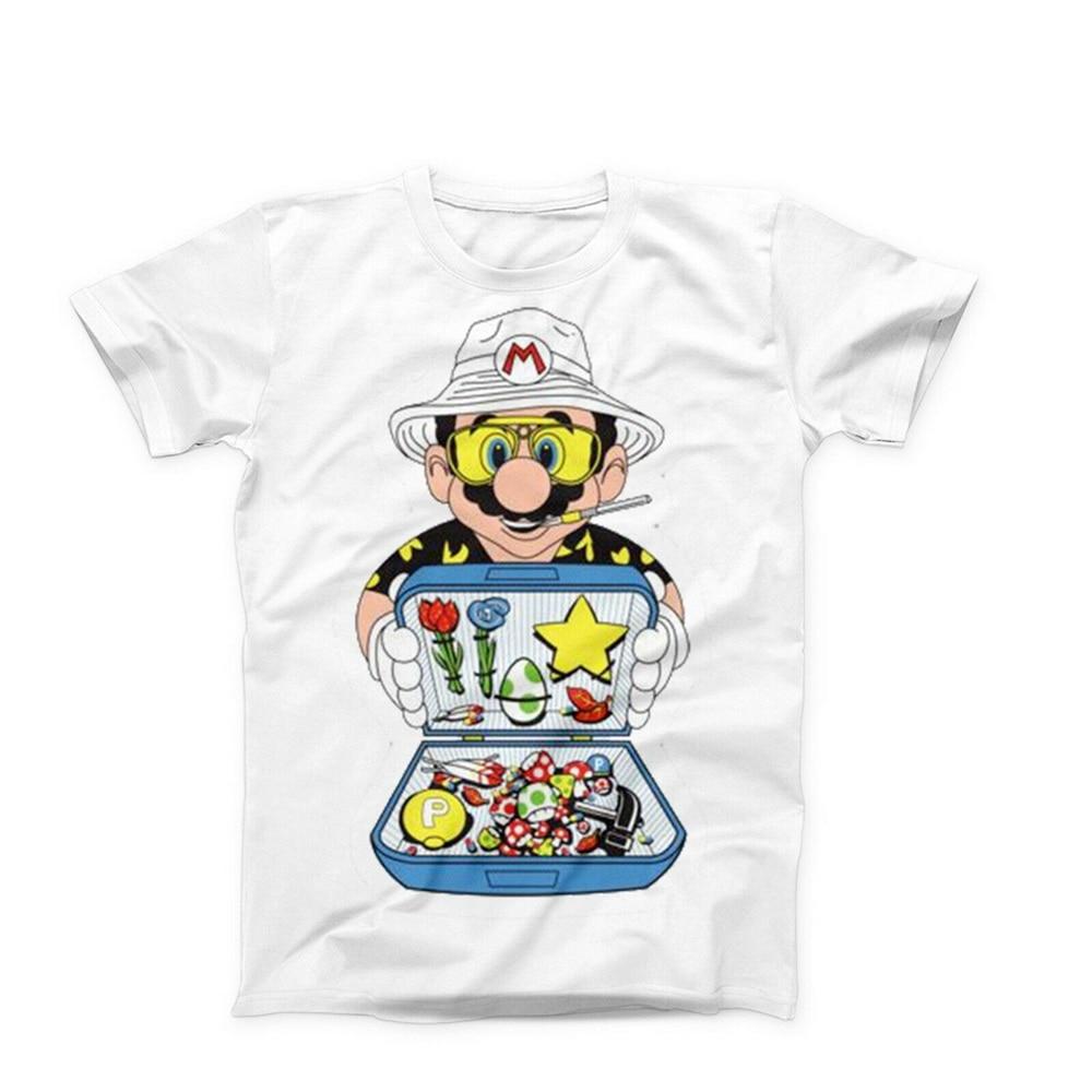 Super Mario strach i wstręt w Las Vegas Lsd Dmt grzyby topy Tee T Shirt zabawny projekt T-Shirt