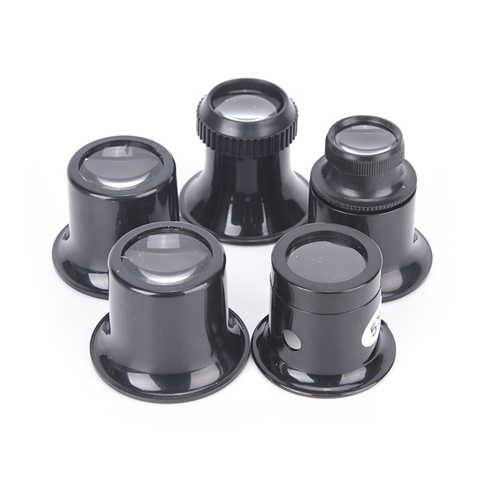 1PC Loupe Lens Black Monocular Glass Magnifier 15X  Watch Jewelry Repair Tools