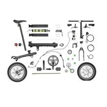 Capteur de vélo électrique EF1, pièces originales, contrôleur/câble/batterie Li-ion/moteur de roue avant pour Xiaomi Qicycle EF1