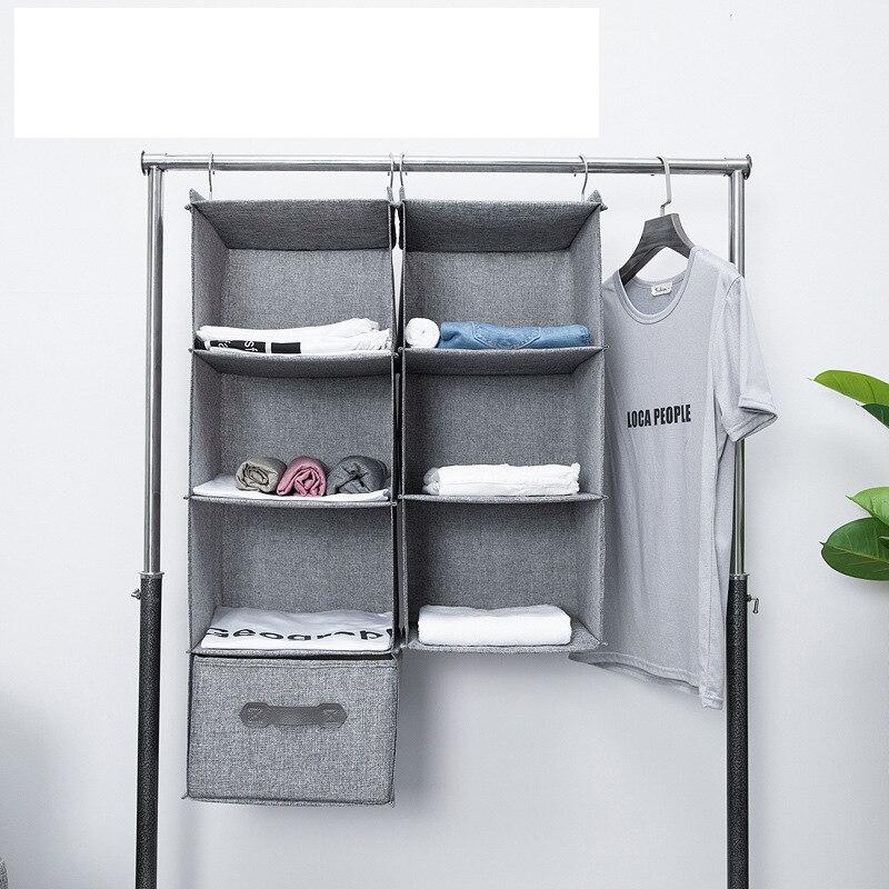 Bolsa de almacenamiento giratoria para colgar en armario, bolsa de almacenamiento con capa interna tipo cajonera, soporte de perchas, organizador portátil para colgar en armario