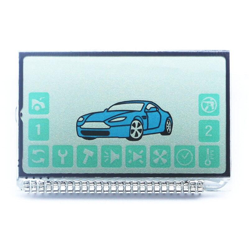 A94 display lcd para starline a94 lcd rússia versão ponto de metal em dois sentidos carro controle remoto alarme chave fob chaveiro