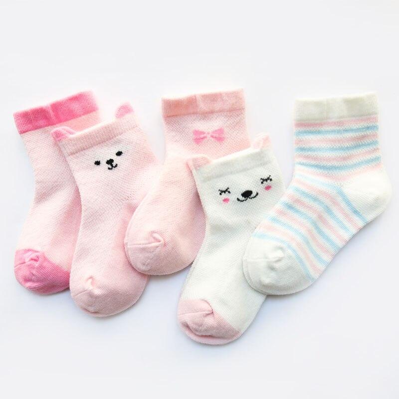 5 pares saco bebe bonito meias primavera criancas dos desenhos animados do bebe shorts