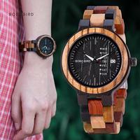 Часы наручные BOBO BIRD мужские, деревянные кварцевые с деревянным ремешком, Прямая поставка со склада в США, 24 часа Быстрая доставка