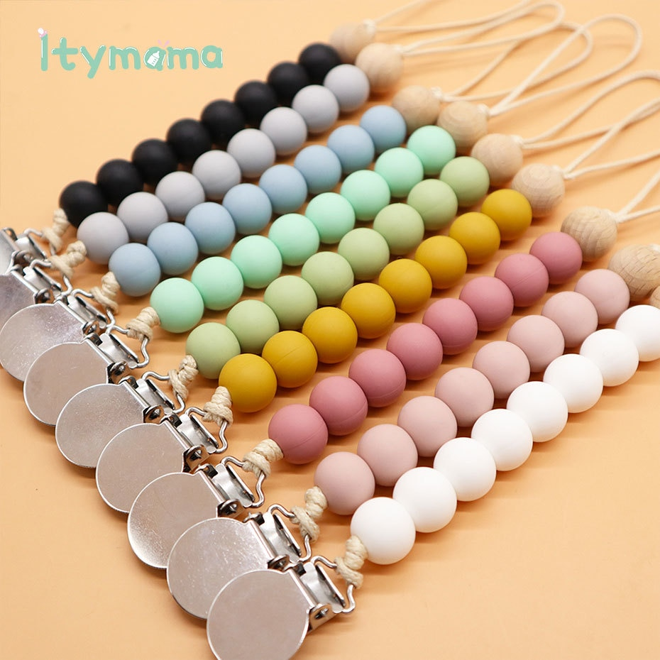 1pc Baby Pacifier Clip Chain Pacifier Holder Soother Dummy Clips Leash Strap Nipple Holder For Infant Nipple Bottle Clip Chain