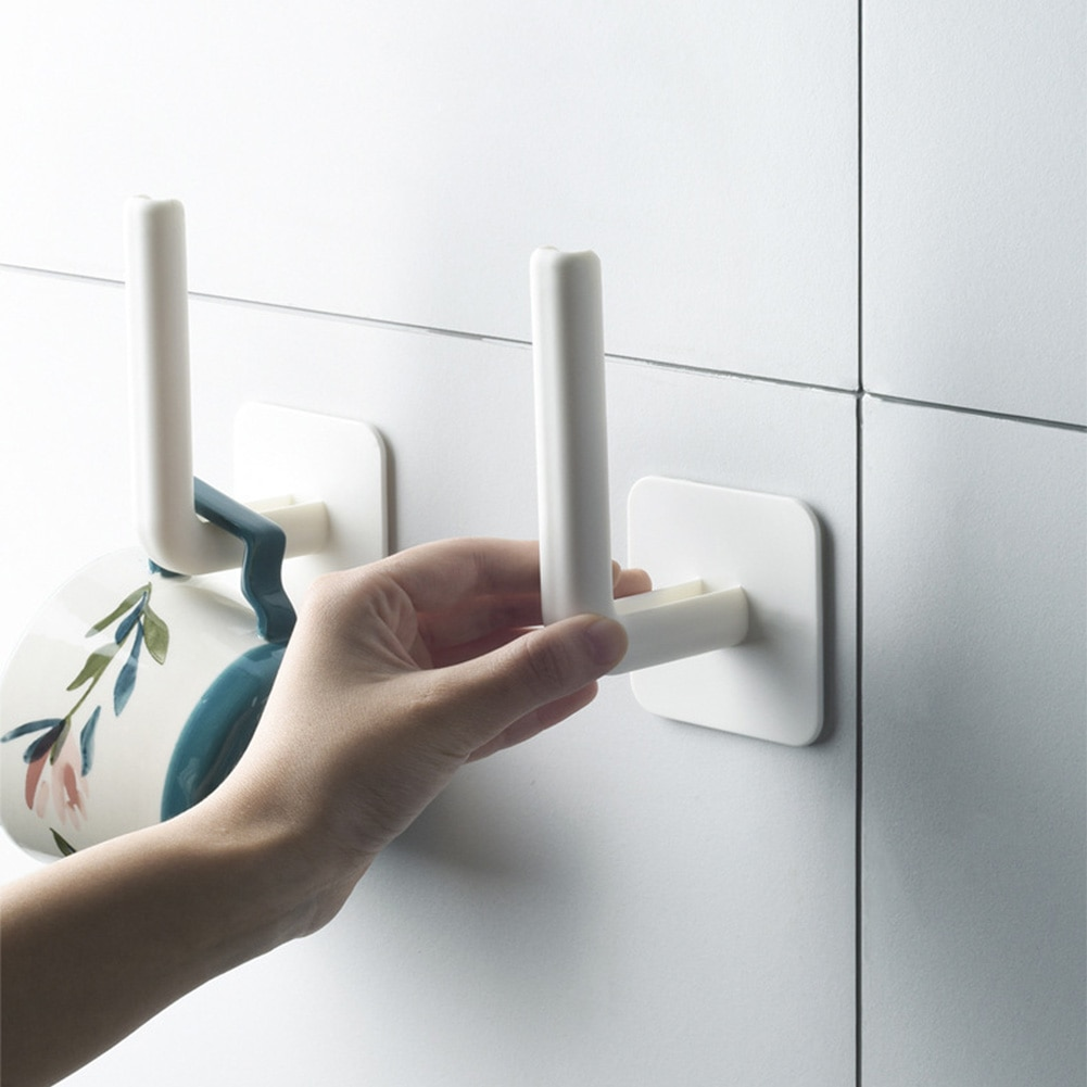 Wall Hook Self Adhesive toilet paper holder stand Tissue Towel Rack Hanger Kitchen Bathroom Holder Storage self adhesive roll paper holder bathroom toilet paper holder kitchen towel holder rack tissue hanger rack hanging organizer