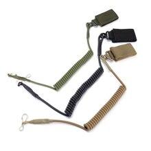 M4 M16 AR 15 accesorios tácticos combate Rifle Sling pistola cuerda de seguridad eslinga de resorte con hebilla de Blet para caza