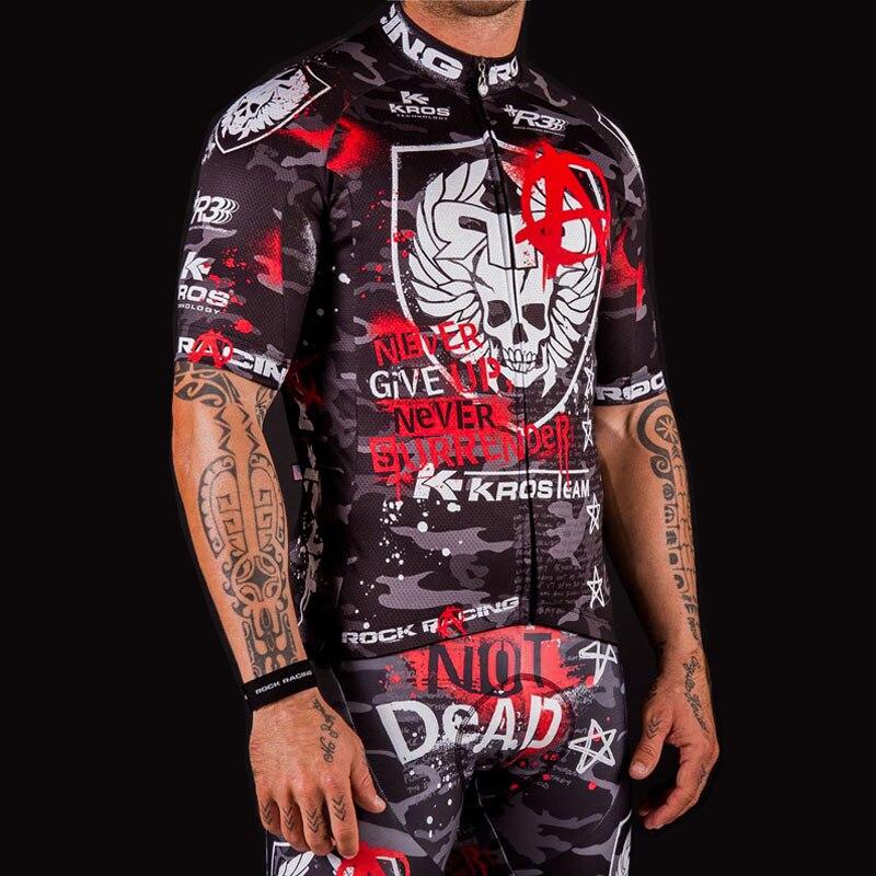 2019 camuflaje Pro Ciclismo ropa de verano Rock Racing bicicleta Jersey Maillot Ciclismo transpirable ropa de bicicleta de carreras + Gel Pad