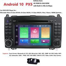 Lecteur dvd 2Din Android10 PX5 8Core   Pour Mercedes Benz classe B B200 classe A W169 W245 Viano Vito W639 Sprinter W906, Radio GPS