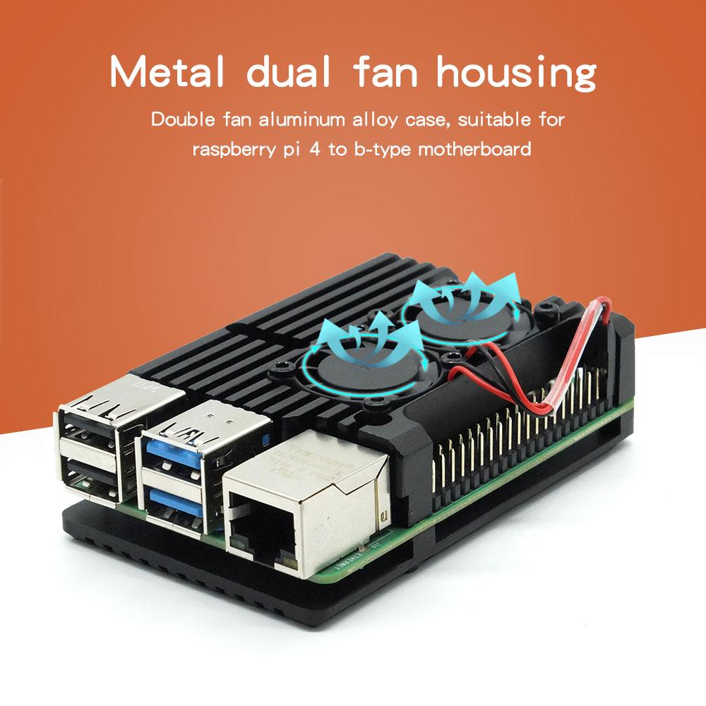 Raspberry sent 4 b metal case 4 generation aluminum alloy heat dissipation joke raspberry pi4 motherboard protection shell acces