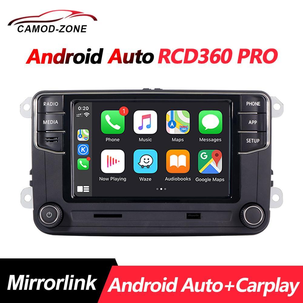 Nuevo RCD330 187B MIB Radio RCD360 PRO NONAME Android Auto Carplay para VW Golf 6 Jetta MK5 MK6 Tiguan CC Polo Passat 6RD035187B