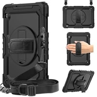 360 rotation hand strapkickstand tablet case for funda huawei mediapad t5 silicone protective cover
