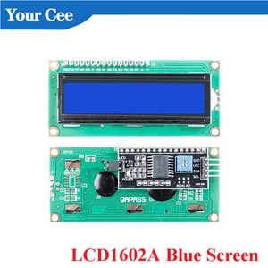 1602 LCD Display Module Blue Screen IIC/I2C LCD1602 PCF8574 Adapter Plate  LCD1602A for Arduino