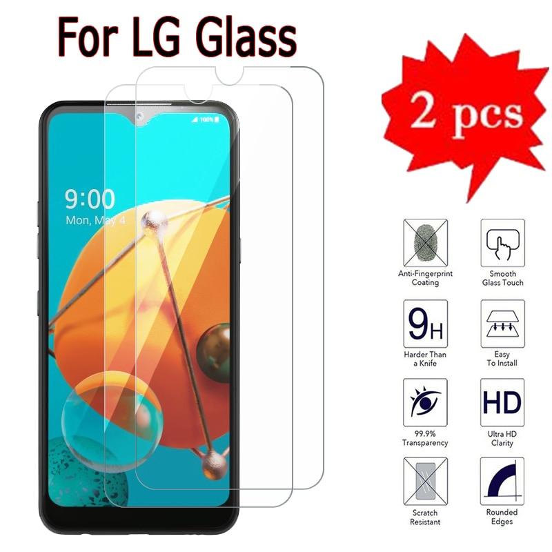 2-1Pcs Glass For LG K41S K42 K51 K51S K52 K61 K8X W41 W31 Plus Pro Cover On LG Q31 Q51 Q52 Q92 Q61 Glass HD Phone Protector Film