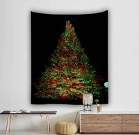 yaapeet polyester christmas tree printed wall tapestry christmas fashion hanging tapestry colorful pretty protection wall decor