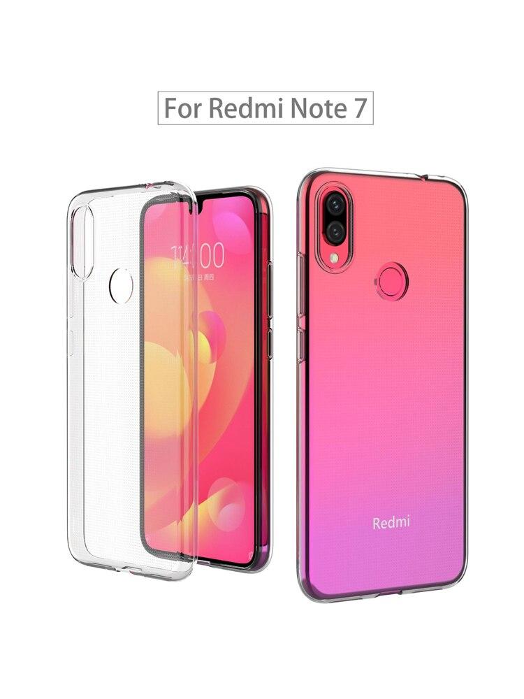 Funda de Gel transparente Xiami Xaomi redmi note 9 pro 8 7 8t note6 pro funda de teléfono móvil inteligente de silicona TPU claro y suave carcasa trasera