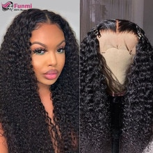 Curly Lace Front Wigs For Women 4X4 Lace Closure Wig Brazilian Human Hair Wigs Remy Hair Pre Plucked