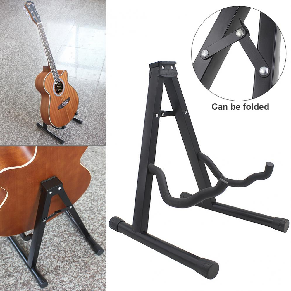 Guitar Stand Aluminum Alloy Folding Tripod Guitar Stand String Instruments Holder for Guitar Bass Ukulele Violin Cello