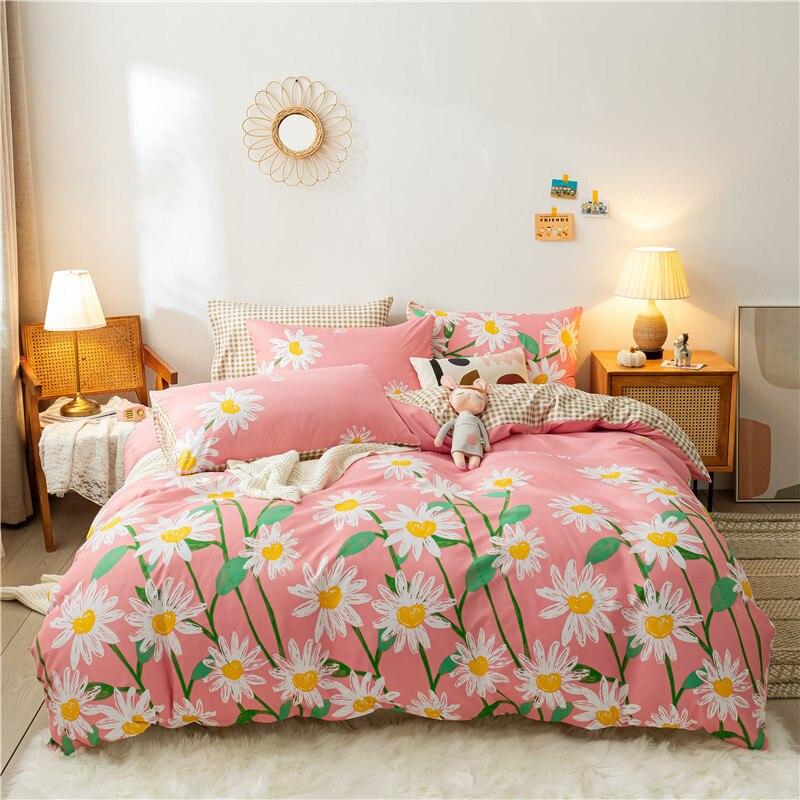 الرعوية نمط غطاء لحاف 200x220 المخدة 3 قطعة ، 220x240 لحاف غطاء السرير غطاء ، الأبيض الزهور نمط الفراش مجموعة بطانية غطاء