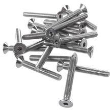 20 Pcs Edelstahl Senkkopf Schrauben, Hexagon Buchse Hex Schlüssel Schrauben M4 x 30mm