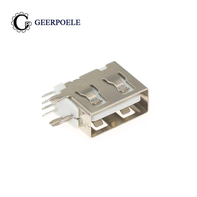 Conector USB tipo A, inserto lateral hembra de 180 grados, Conector hembra...