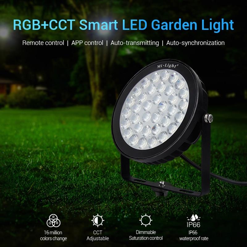 FUTC05 25W RGB+CCT Smart LED Garden Lamp Outdoor Landscape Light IP66 AC 220V Wifi/Phone APP/Remote/Alexa Voice Control enlarge