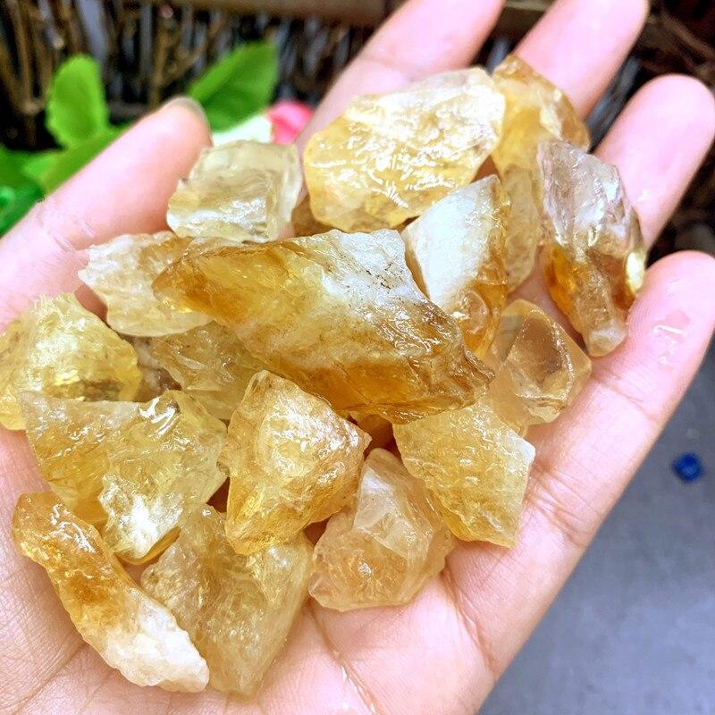 Calidad 50g cristal citrino Natural piedra bruto Yollow Rock espécimen Brasil Original piedra de roca muestra colección de curación