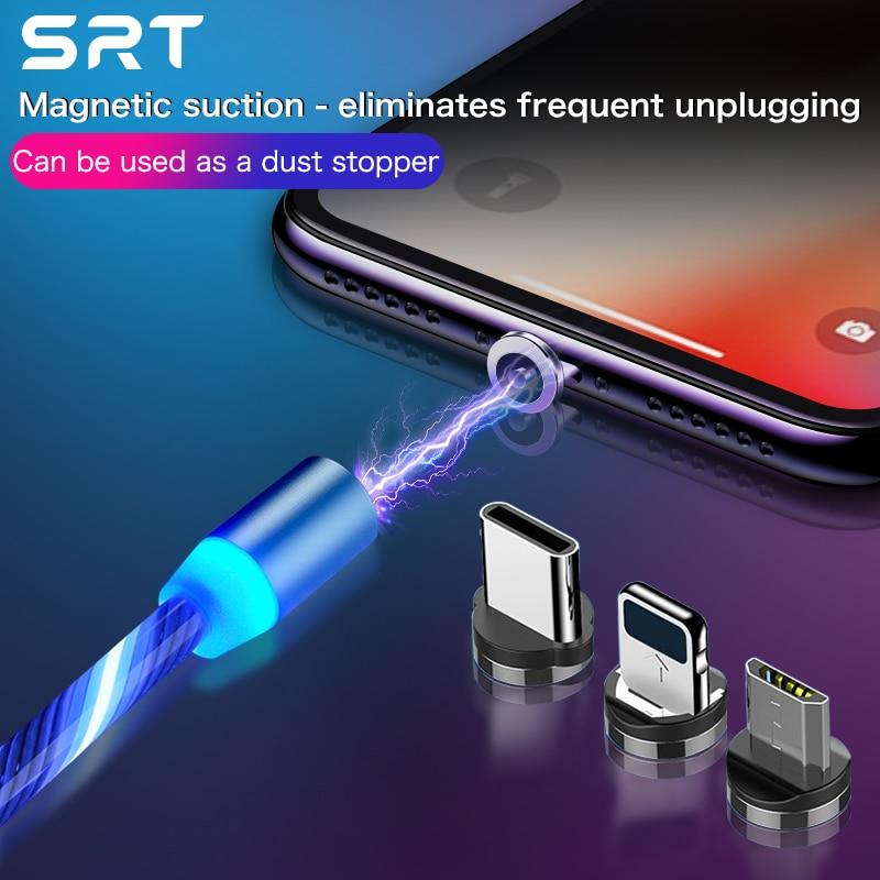 Srt usb cabo de carregamento rápido usb tipo c cabo ímã carregador de carga de dados micro cabo usb cabo do telefone móvel cabo usb