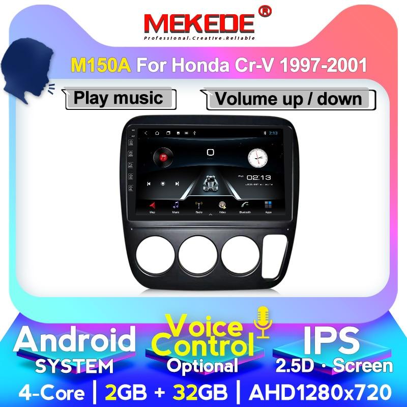 1024X600 soporte de voz Android 10 Radio DVD coche para Honda CRV CR-V 1997-2001 para pantalla de navegación GPS radio Audio reproductor Multimedia