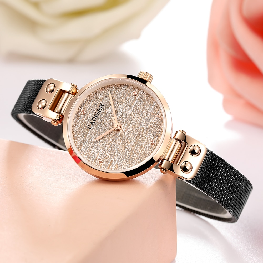 CADISEN Women watch Ultra-Thin  Wrist Watches Luxury Female Clock Fashion Montre Femme 2019 Quartz Ladies Watch Relogio Feminino enlarge
