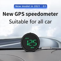 g1 car hud universal gps head up display compass digital on board computer for truck car motorcycle rpm mph kmh speed alarm