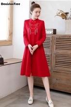2020 stickerei verbesserte cheongsam chinesischen kleid für frauen casual party hochzeit kleid qipao weibliche asiatische kleidung vestidos