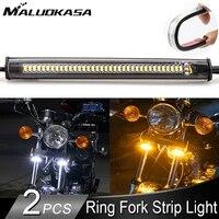 led motorcycle turn signal light drl amber white moto flasher ring fork strip lamp blinker flashing license plate light 12v