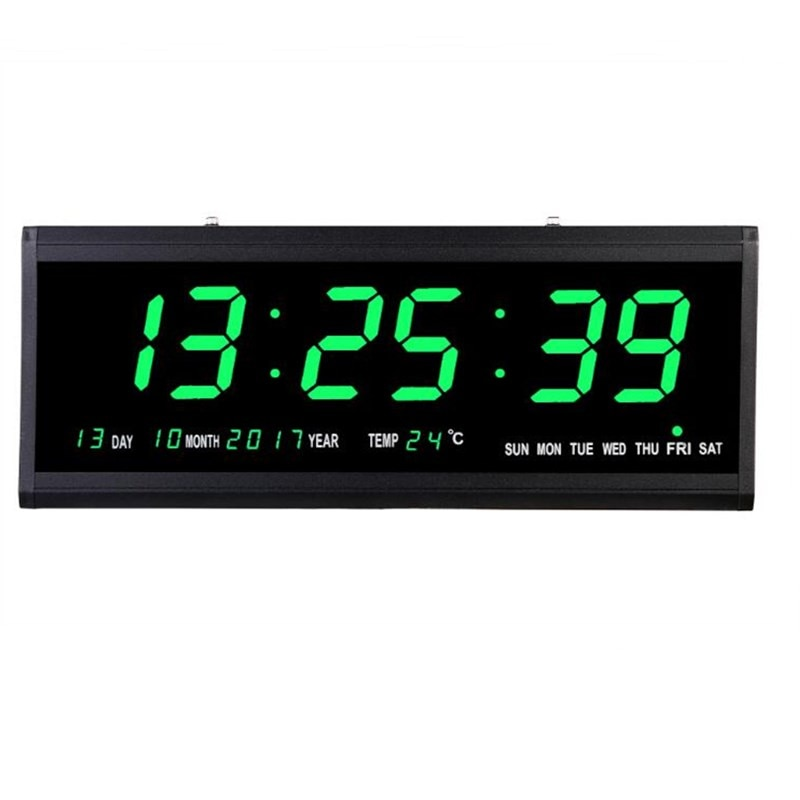 Большие цифровые настенные часы светодиодный светодиодные часы с календарем, термометром, настольные электронные светодиодный сы с вилкой...