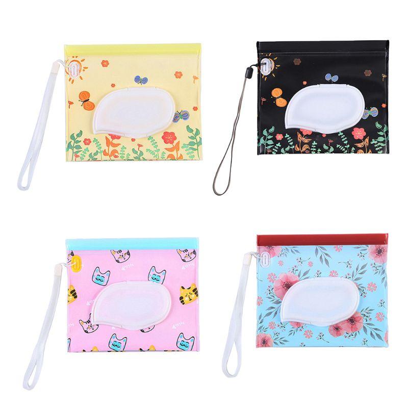 Portable Reusable Eco Friendly Wet Wipe Pouch Bag Travel Wipes Dispenser Holder