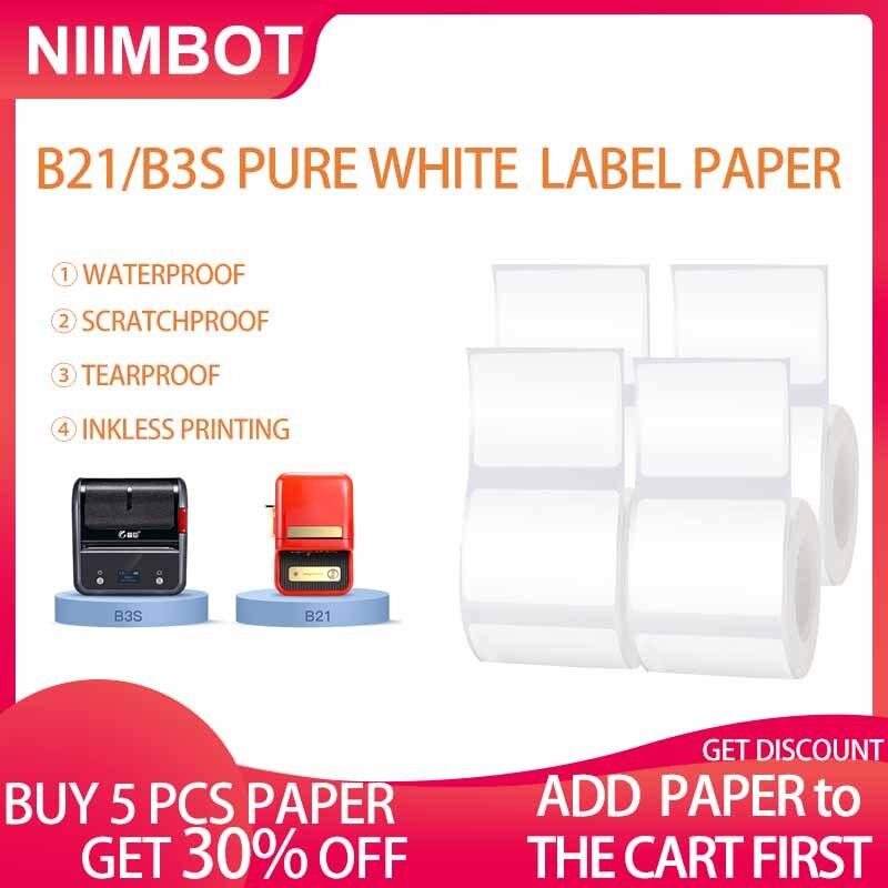 Машина для печати этикеток NIIMBOT B21, Термочувствительная бумага для этикеток, этикеток для одежды, товары, самоклеящаяся бумага для этикеток