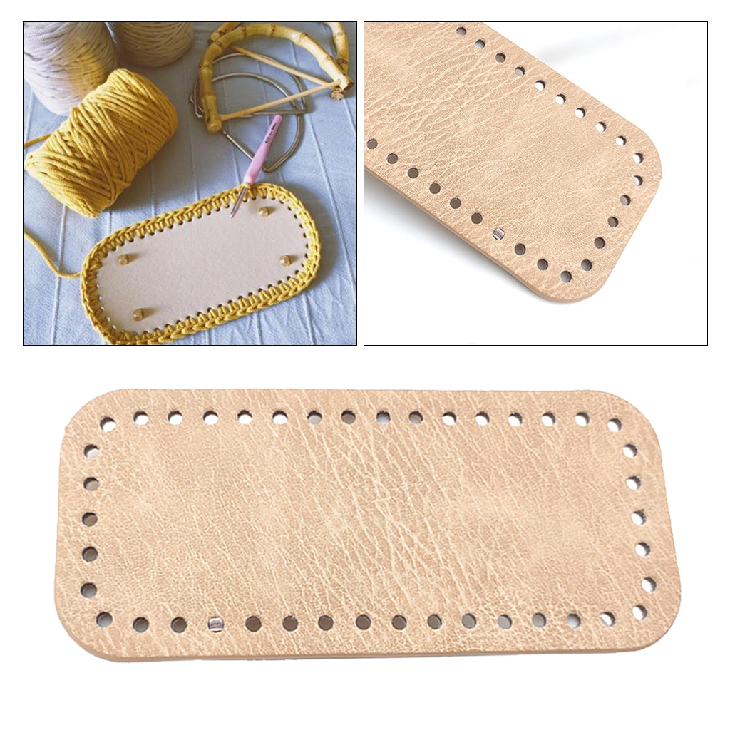 Овальные длинные вязаные крючком Сумки из искусственной кожи для ногтей, Формовочная Накладка для ногтей, основание подушки для Сумочка с о...