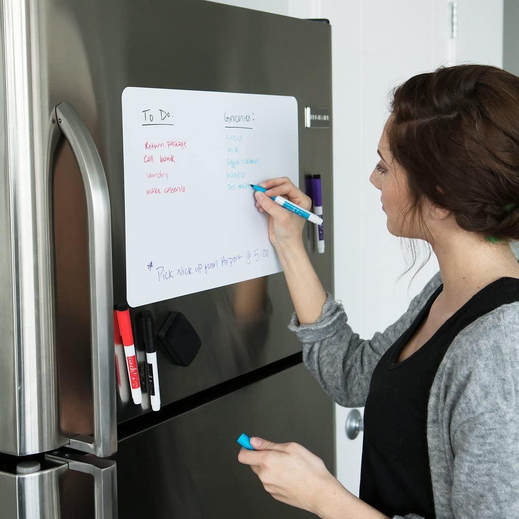 Магнитная доска для холодильника, стикеры, магнитная стираемая белая доска для заметок, записей, рисования, планировщика, календаря, Размер ...