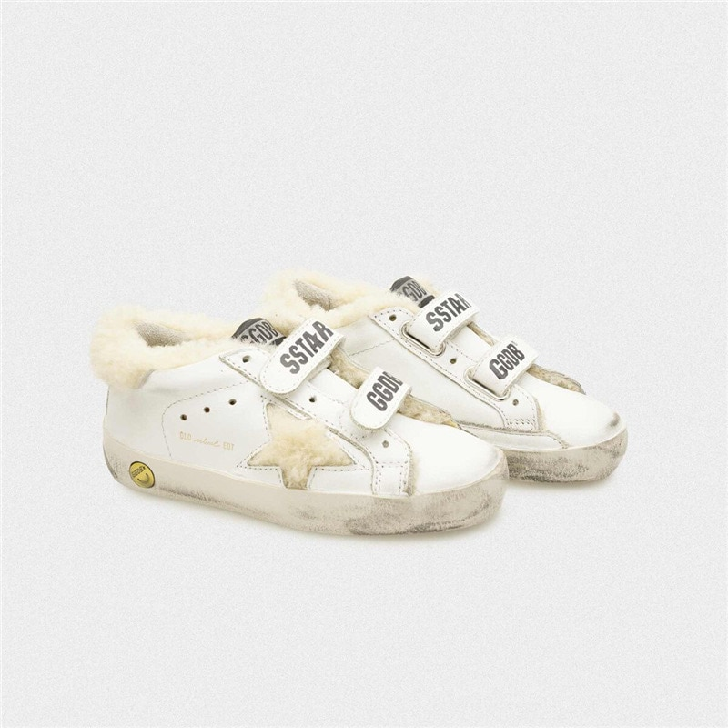 2021 Autumn and Winter New Lamb Hair Children's Old Small Dirty Shoes for Boys and Girls Casual Velcro Kids Sneakers CS190 enlarge