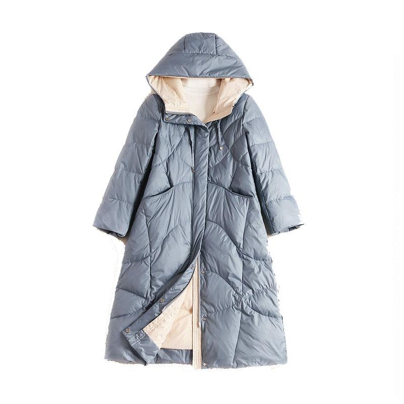WYWAN-جاكيت منفوخ نسائي شتوي 2020 ، ملابس خارجية ، طويل ، غير رسمي ، خفيف ، نحيف للغاية ، دافئ