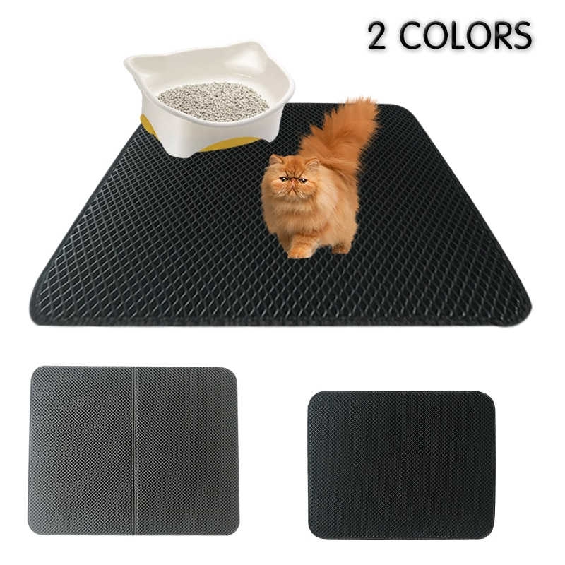 AliExpress - Double Layer Pet Cat Litter Box Mat Waterproof  Pads Non-slip Bed For House Clean Trapping Dog Kitten Sandbox Filters cama para