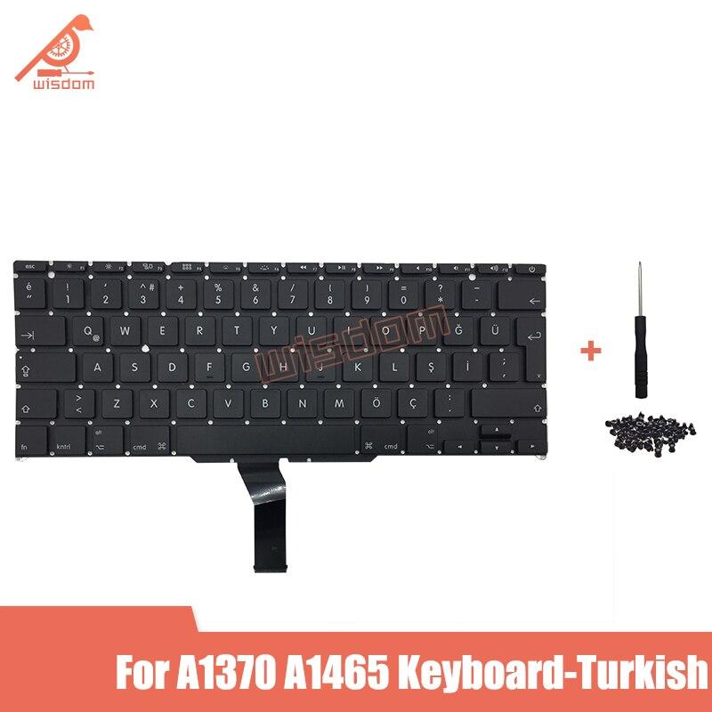 "Teclado Turco A1370 A1465 a estrenar para Macbook Air 11 ""A1370 A1465 teclado Turco 2011 2012 2013 2014 2015 años"