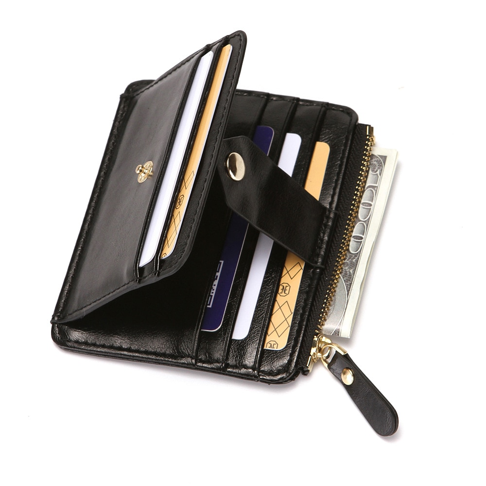 Delgado titular De la tarjeta De crédito con bolsillo De la moneda...