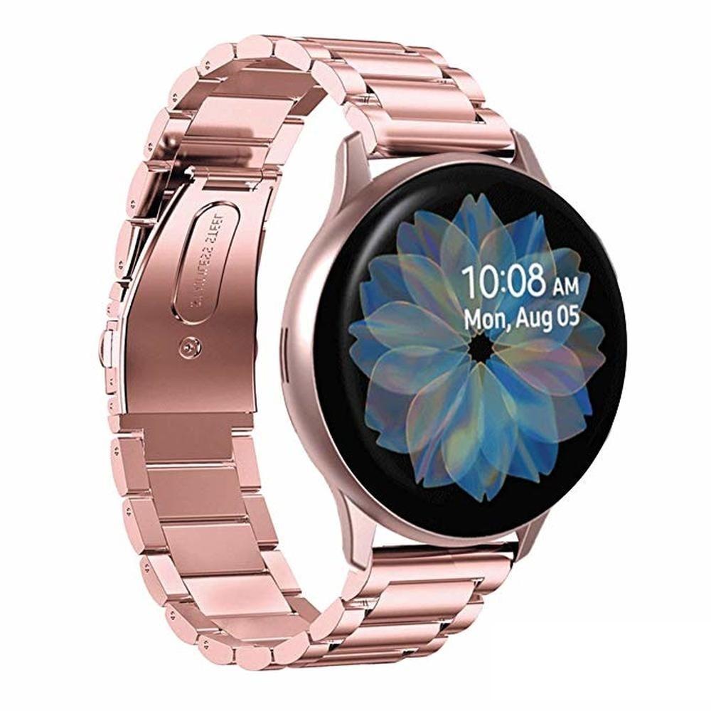 Браслет из нержавеющей стали для Galaxy Watch Active 2 40 мм, браслет для Active 2 44 мм Band 20 мм для Samsung Galaxy Watch Active 2 aксессуар ремешок samsung galaxy watch sport band pink et sfr82mpegru для active active 2